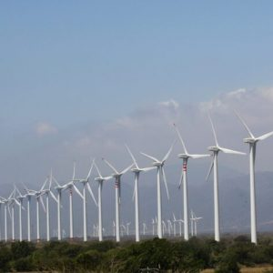 Wind turbines are seen in La Ventosa February 7, 2012. Surrounded by towering turbines in every direction, the town of La Ventosa - which means